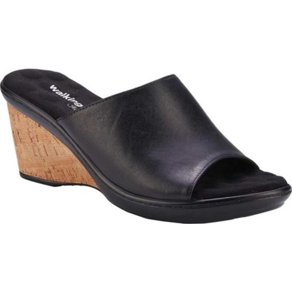 ウォーキング クレイドル レディース サンダル シューズ Lynn Wedge Slide Black Moroccan Leather