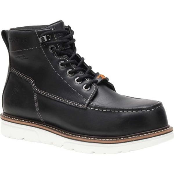 ウルヴァリン メンズ ブーツ&レインブーツ シューズ I-90 DuraShocks Composite Moc Toe Work Boot Black/White Full Grain Leather