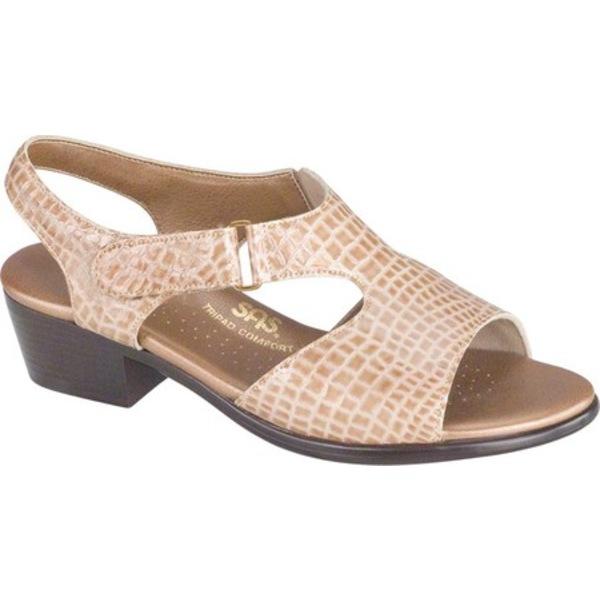 エスエーエス レディース サンダル シューズ Suntimer Heeled Sandal Beige Croc Leather