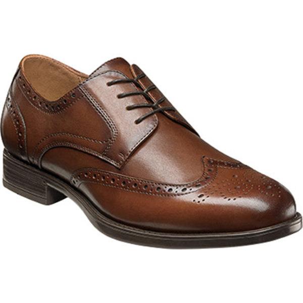 フローシャイム メンズ スニーカー シューズ Midtown Wingtip Oxford Cognac Smooth Leather
