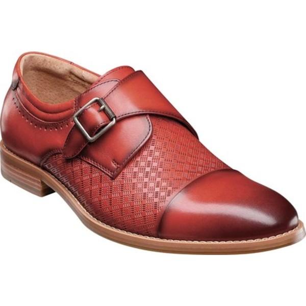 ステイシーアダムス メンズ ドレスシューズ シューズ Fenwick Cap Toe Monkstrap Cranberry Smooth Leather