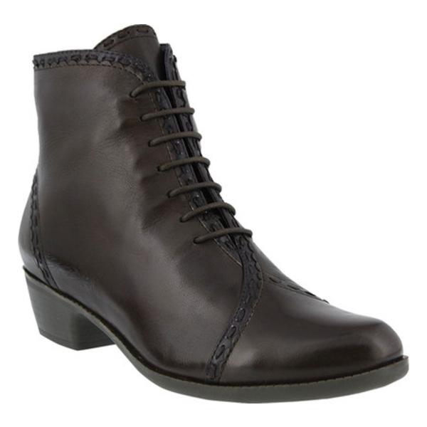 スプリングステップ レディース ブーツ&レインブーツ シューズ Jaru Bootie Dark Brown Leather