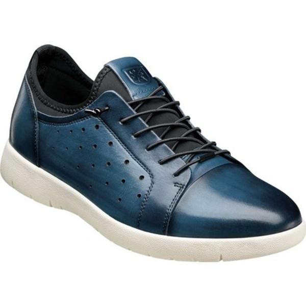 ステイシーアダムス メンズ ドレスシューズ シューズ Halden Cap Toe Sneaker Blue Burnished Smooth Leather