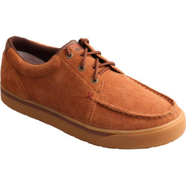 ツイステッド エックス メンズ ブーツ&レインブーツ シューズ Hooey Moc Toe Sneaker Brown Rough Out Leather