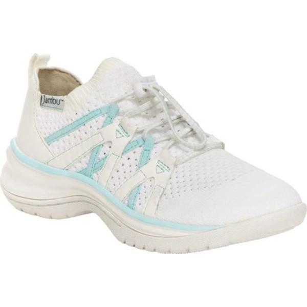 ジャンブー レディース スニーカー シューズ Jardin Vegan Slip On Sneaker White/Mint Knit/Tumbled Vegan Nubuck