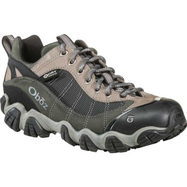 オボズ メンズ ブーツ&レインブーツ シューズ Firebrand II Low Hiking Shoe Gray Waterproof Nubuck/Abrasion-Resistant Textile