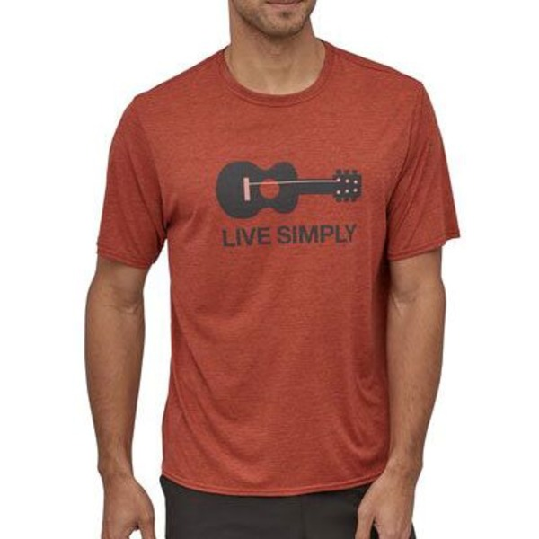 パタゴニア メンズ シャツ トップス Patagonia Men's Capilene Cool Daily Graphic Shirt LiveSmplyGtr/RtsRdXdy
