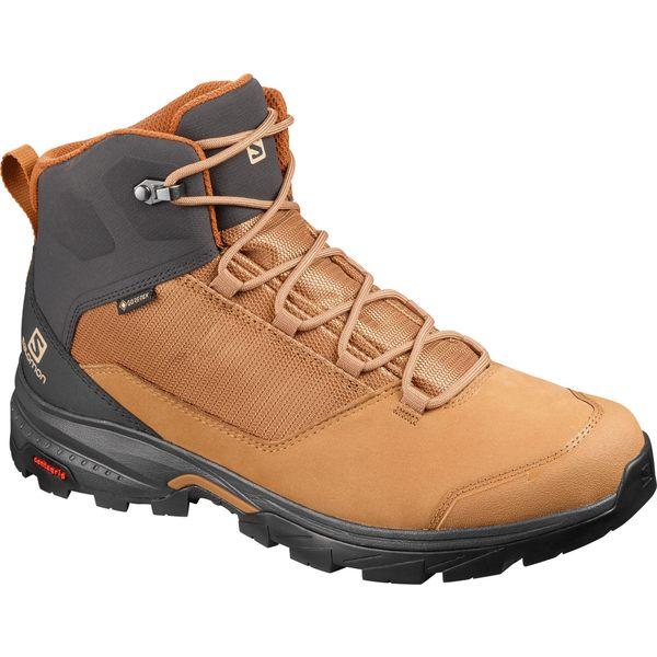 サロモン メンズ ブーツ&レインブーツ シューズ Salomon Men's Outward GTX Waterproof Hiking Boots TobaccoBrown