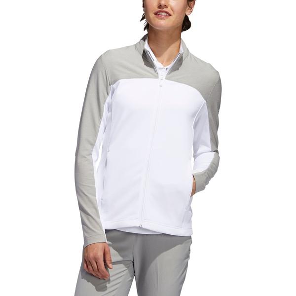 アディダス レディース ジャケット&ブルゾン アウター adidas Women's Go-To Full Zip Golf Jacket White/Grey
