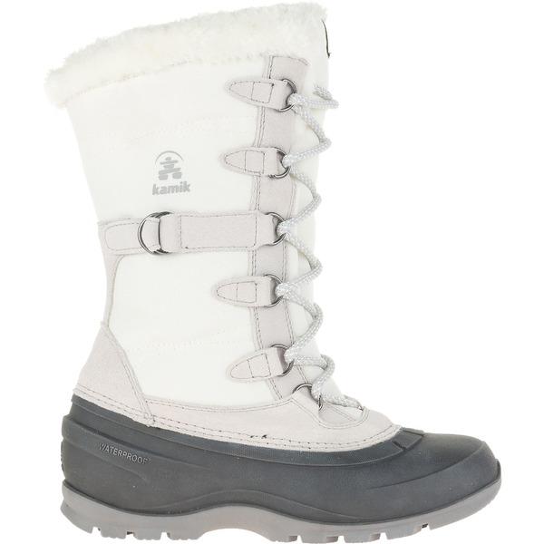 カミック レディース ブーツ&レインブーツ シューズ Kamik Women's Snovalley2 200g Waterproof Winter Boots White