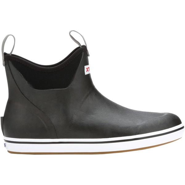 エクストラタフ メンズ ブーツ&レインブーツ シューズ XTRATUF Men's 6'' Ankle Waterproof Deck Boots Black