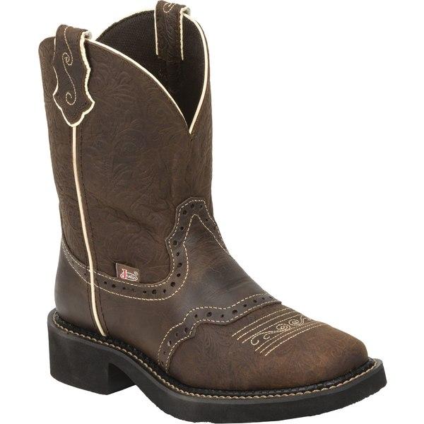 ジャスティンブーツ レディース ブーツ&レインブーツ シューズ Justin Women's Gypsy Mandra Western Boots Brown