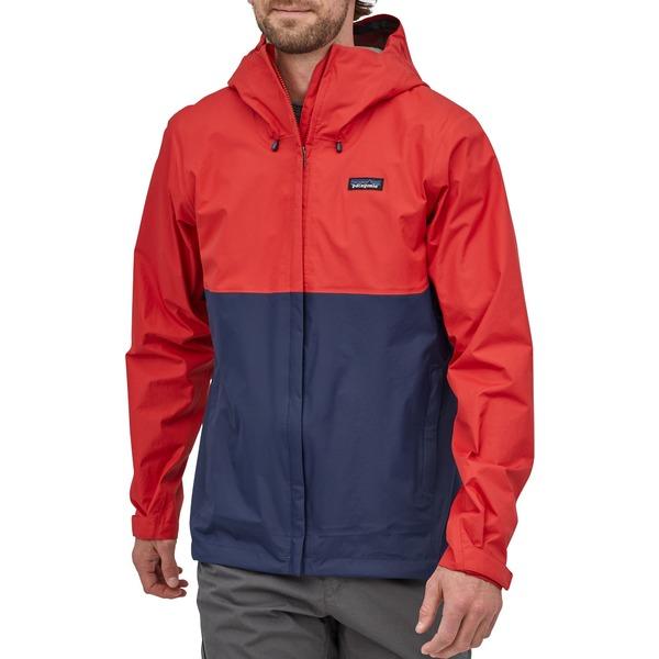パタゴニア メンズ ジャケット&ブルゾン アウター Patagonia Men's Torrentshell 3L Rain Jacket Fire