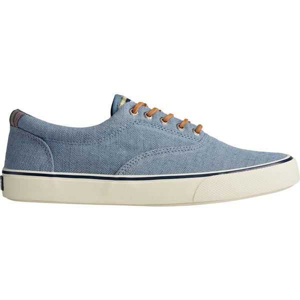 トップサイダー メンズ スニーカー シューズ Sperry Men's Striper II CVO Distressed Casual Shoes Blue