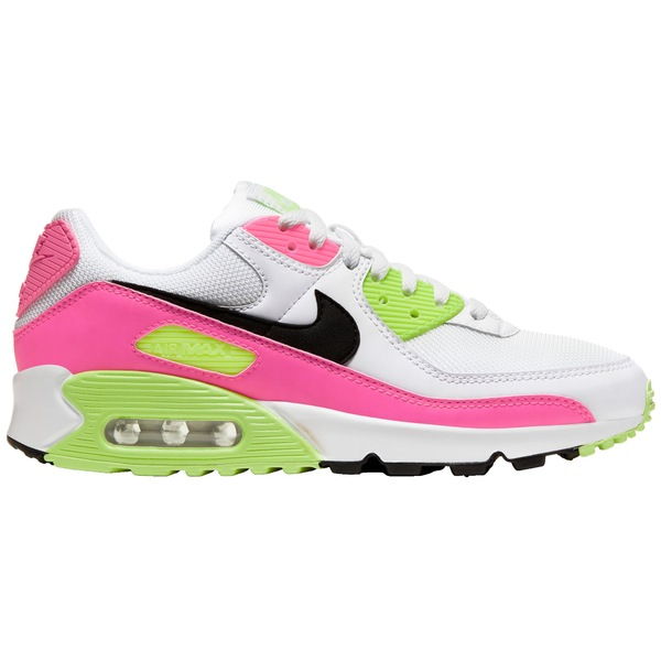 ナイキ レディース スニーカー シューズ Nike Women's Air Max 90 Shoes Wht/Blk/PnkBlst/GhostGrn