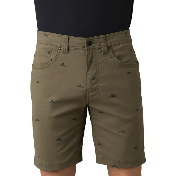 プラーナ メンズ カジュアルパンツ ボトムス prAna Men's Brion Shorts (Regular and Big & Tall) SlateGreenCruxRock