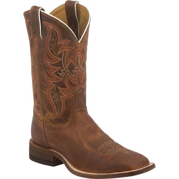 ジャスティンブーツ メンズ ブーツ&レインブーツ シューズ Justin Men's Distressed Cognac Bent Rail Western Boots Brown
