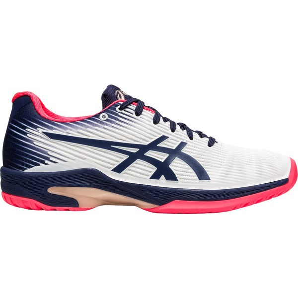 アシックス レディース テニス スポーツ ASICS Women's Solution Speed FF Tennis Shoes White/Peacoat