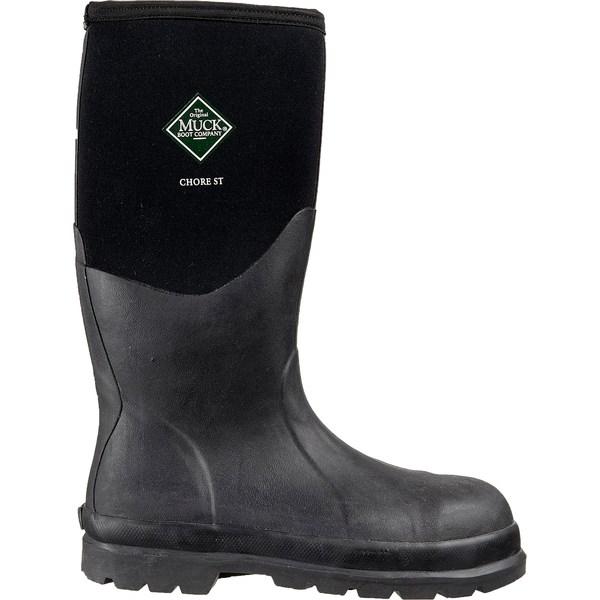ムックブーツ メンズ ブーツ&レインブーツ シューズ Muck Boot Men's Chore Hi Waterproof Work Boots Black