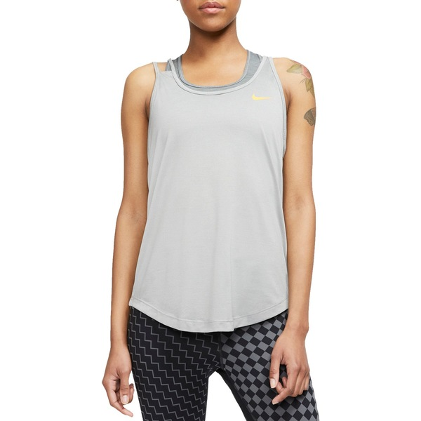 ナイキ レディース シャツ トップス Nike Women's Performance Running Tank Top ParticleGrey