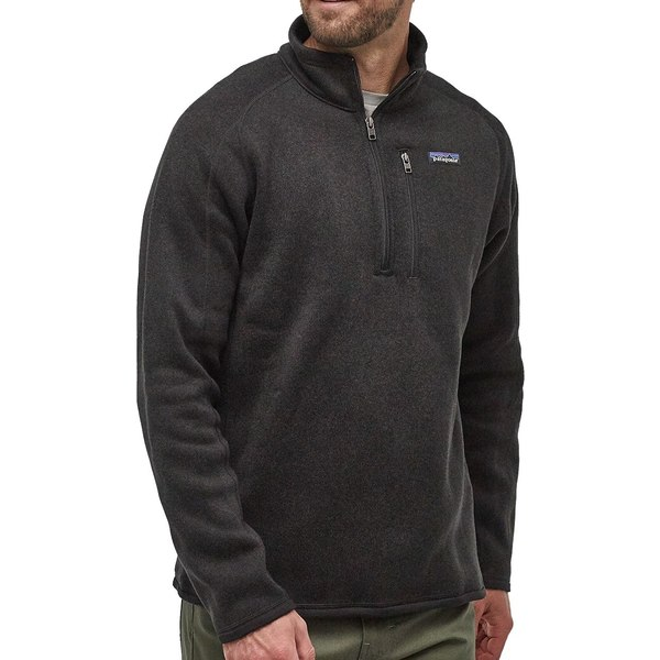 パタゴニア メンズ ジャケット&ブルゾン アウター Patagonia Men's Better Sweater 1/4 Zip Pullover (Regular and Big & Tall) Black
