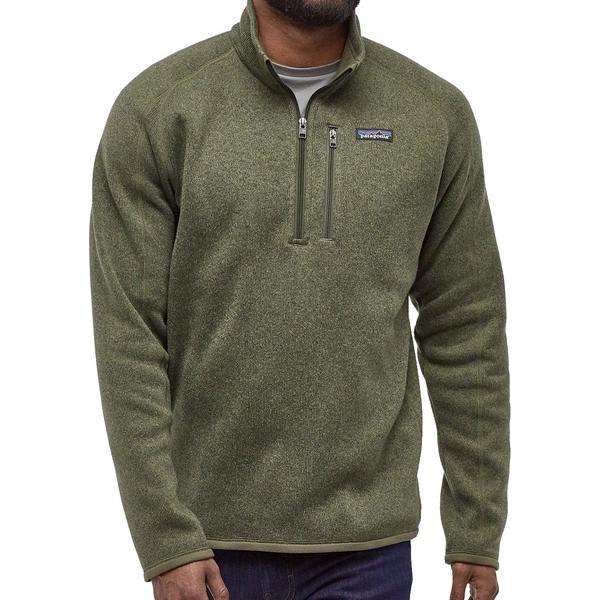 パタゴニア メンズ ジャケット&ブルゾン アウター Patagonia Men's Better Sweater 1/4 Zip Pullover (Regular and Big & Tall) IndustrialGreen