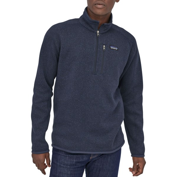 パタゴニア メンズ ジャケット&ブルゾン アウター Patagonia Men's Better Sweater 1/4 Zip Pullover (Regular and Big & Tall) NewNavy