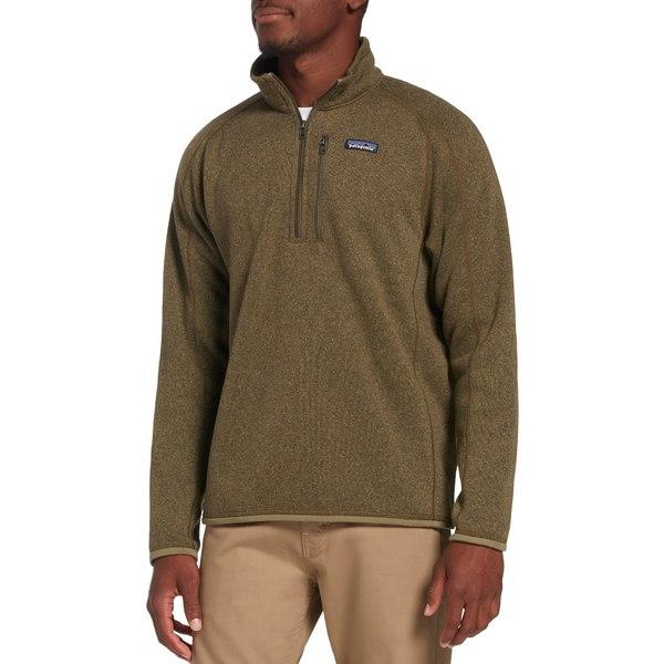 パタゴニア メンズ ジャケット&ブルゾン アウター Patagonia Men's Better Sweater 1/4 Zip Pullover (Regular and Big & Tall) SageKhaki