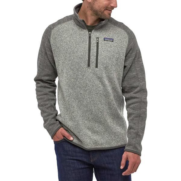 パタゴニア メンズ ジャケット&ブルゾン アウター Patagonia Men's Better Sweater 1/4 Zip Pullover (Regular and Big & Tall) Nickel/ForgeGrey