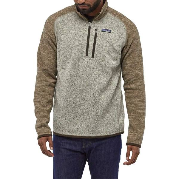パタゴニア メンズ ジャケット&ブルゾン アウター Patagonia Men's Better Sweater 1/4 Zip Pullover (Regular and Big & Tall) BleachedStone/PaleKhaki