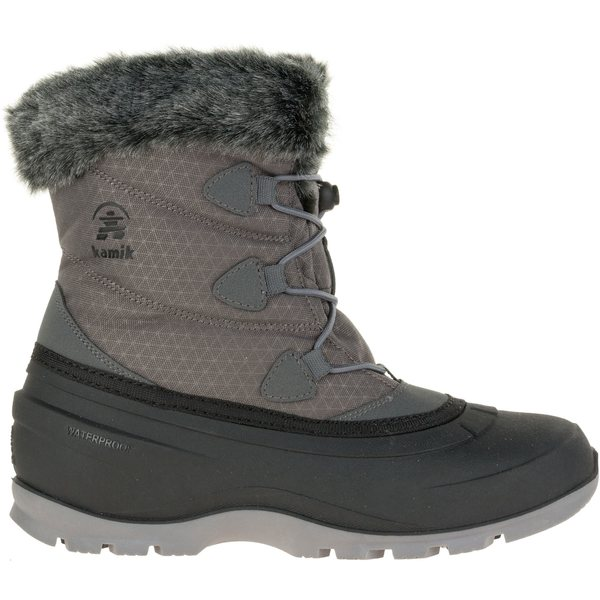カミック レディース ブーツ&レインブーツ シューズ Kamik Women's MomentumLo 200g Waterproof Winter Boots Charcoal