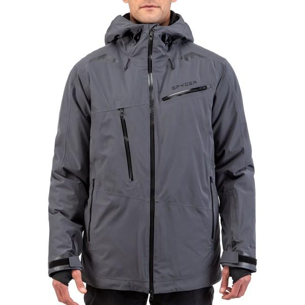 スパイダー メンズ ジャケット&ブルゾン アウター Spyder Men's Hokkaido GTX Ski Jacket Ebony
