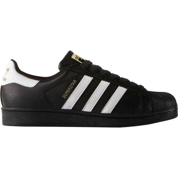 アディダス メンズ スニーカー シューズ adidas Originals Men's Superstar Shoes Black/White/Gold