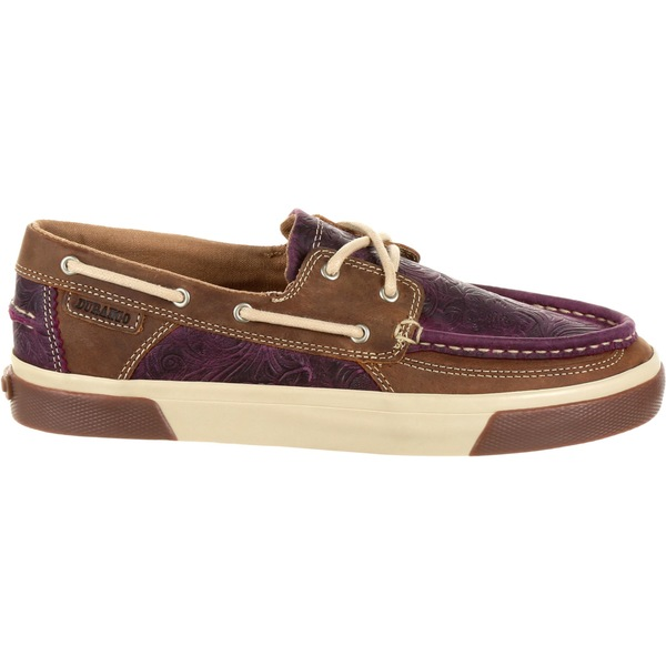 デゥランゴ レディース スニーカー シューズ Durango Women's Music City Western Embossed Boat Shoes PassionPlum