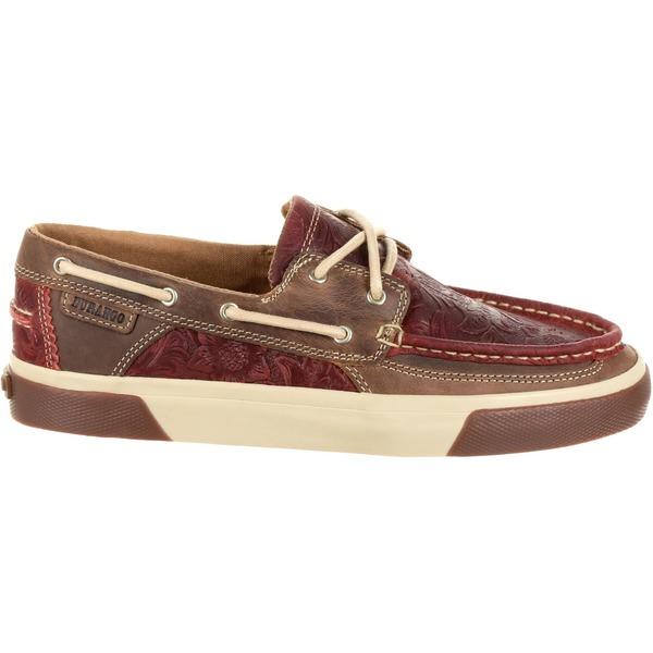 デゥランゴ レディース スニーカー シューズ Durango Women's Music City Western Embossed Boat Shoes VintageRed