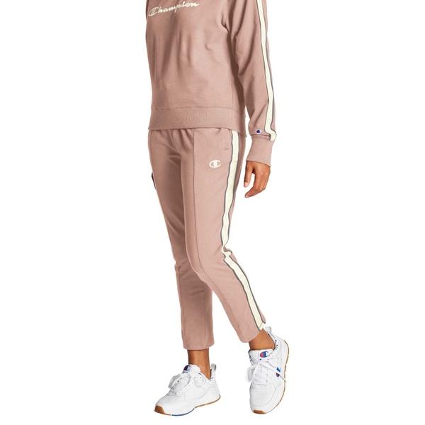 チャンピオン レディース カジュアルパンツ ボトムス Champion Women's Heritage Taped Fleece Pants DreamPink