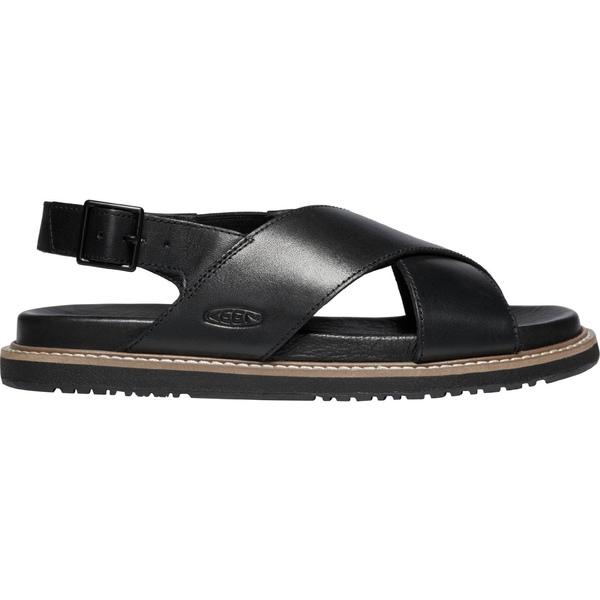 キーン レディース サンダル シューズ KEEN Women's Lana Cross Strap Sandals Black/Black