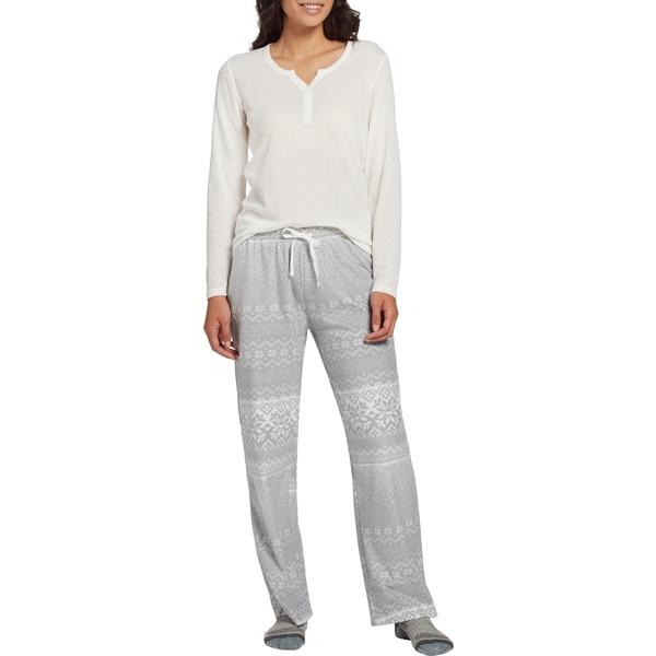 フィールドアンドストリーム レディース シャツ トップス Field & Stream Women's Cozy 2-Piece Pajama Set Grey
