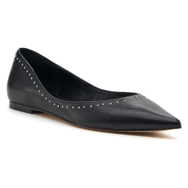 ボトキエ レディース サンダル シューズ Botkier Aubrey Studded Pointed Toe Flat (Women) Black Calfskin