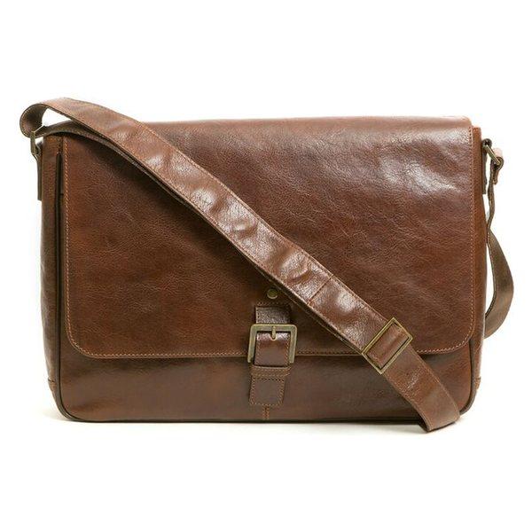 ボコニ メンズ ショルダーバッグ 送料無料新品 評判 バッグ Boconi Leather Messenger 'Becker' Whiskey Bag