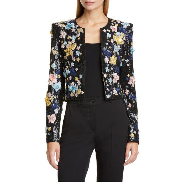 ズハイル・ムラド レディース ジャケット&ブルゾン アウター Zuhair Murad Floral Embellished Crop Jacket Gardenia Embroidered Multi