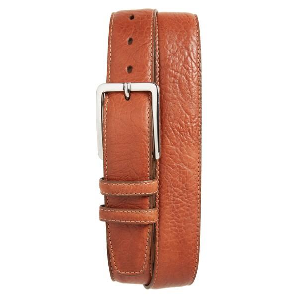 トリノ メンズ ベルト アクセサリー Torino Shrunken Leather Belt Tan