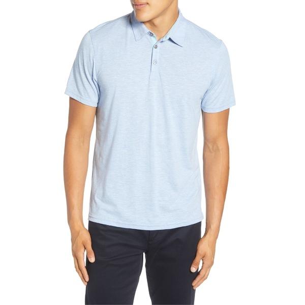 ザッカリープレル メンズ ポロシャツ トップス Zachary Prell Liff Regular Fit Slub Polo Lt Blue