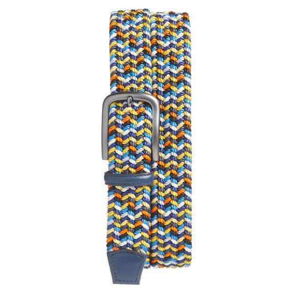 トリノ メンズ ベルト アクセサリー Torino Woven Belt Navy Multicolor
