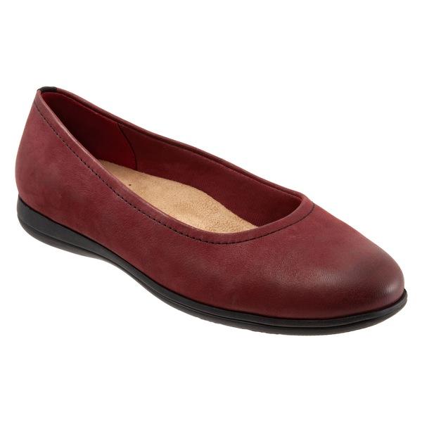 トロッターズ レディース サンダル シューズ Trotters Darcey Skimmer Flat (Women) Dark Red Leather