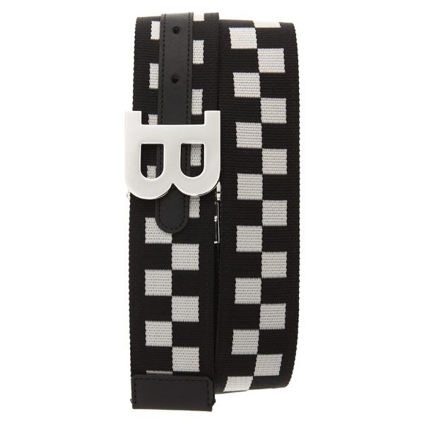 バリー メンズ ベルト アクセサリー Bally B-Buckle Reversible Webbed Belt Black/ Bone