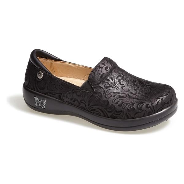 アレグリア レディース サンダル シューズ Alegria 'Keli' Embossed Clog Black Paisley Leather