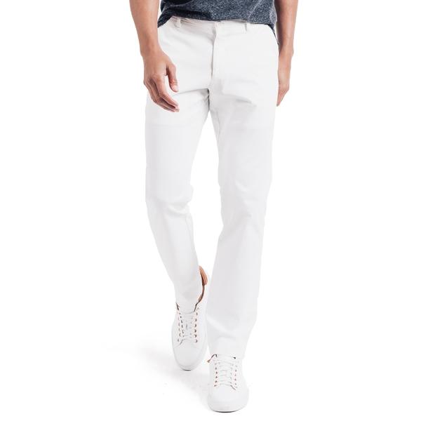 グッドマンブランド メンズ カジュアルパンツ ボトムス Good Man Brand Soho Slim Fit Flat Front Stretch Cotton Dress Pants White