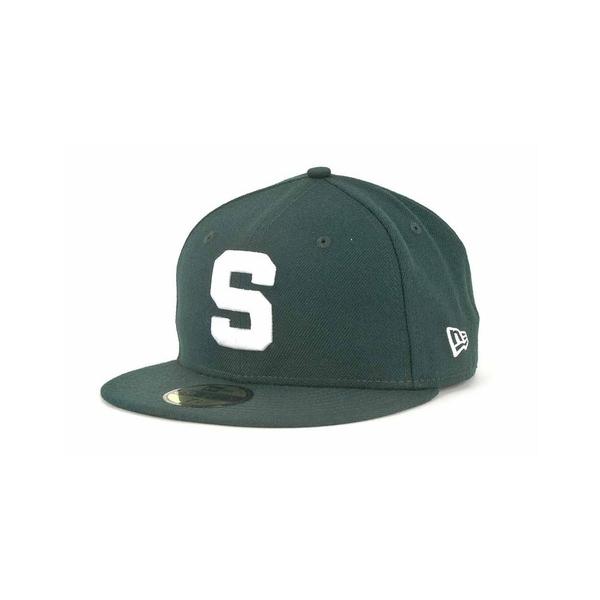 ニューエラ メンズ 帽子 アクセサリー Michigan State Spartans 59FIFTY Cap ForestGreen