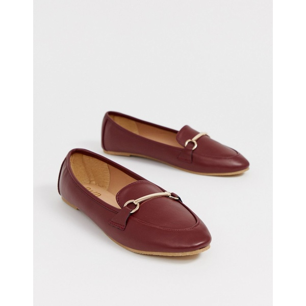 レイド レディース サンダル シューズ RAID Viera oxblood snaffle detail flat shoes Oxblood pu